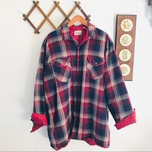 Vintage Plaid Flannel Thick Shirt Jacket